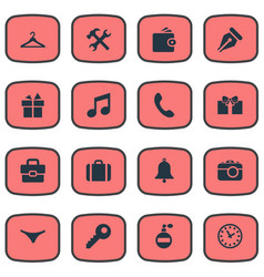 Set of simple accessories vector