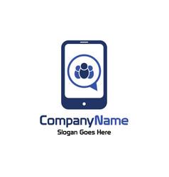 social mobile logo vector image vector image