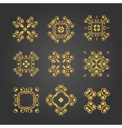 swirl pattern set 3 vector image