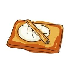 Toast bakery food vector