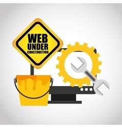 web page under construction vector image