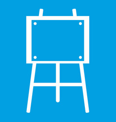 wooden easel icon white vector image
