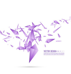 Abstract background with dynamic fragments vector