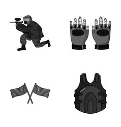 Sport game paintball competition paintball set vector