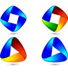 Business abstract logo design set vector