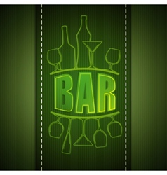 Bar list design vector