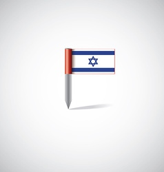 Israel flag pin vector