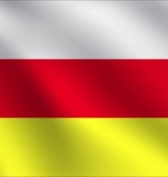 North ossetia flag vector