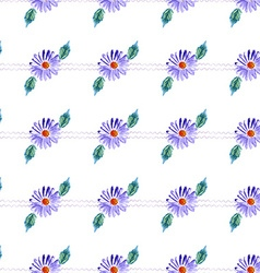 Watercolor violet daisy vector