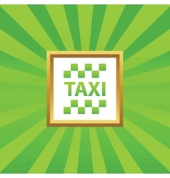 Taxi picture icon vector