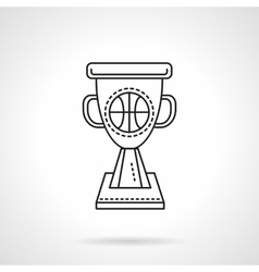 Basketball winner cup flat line icon vector