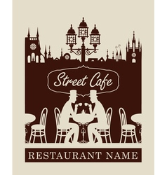 menu for street cafe vector image