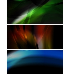 dark wavy banners collection vector image
