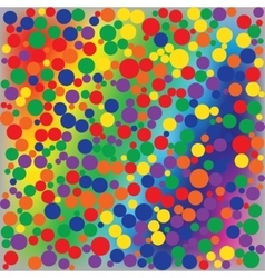 Bright rainbow dotted abstract background vector