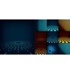 Set of ten abstract digital background vector