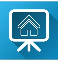 House project gradient square icon vector
