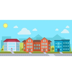 Street with office vector