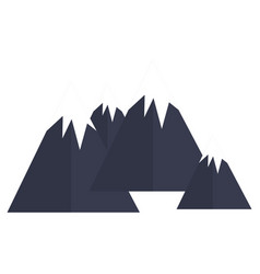 big mountains isolated icon vector image