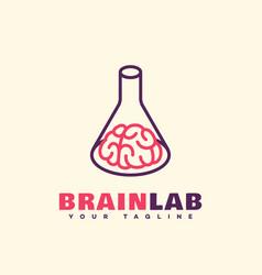 brain lab logo vector image vector image