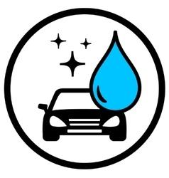 car wash symbol vector image
