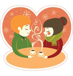 Coffee for two vector image