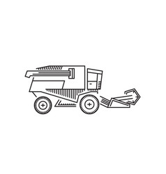 combine harvester icon outline vector image vector image
