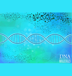 Dna model on blue background vector