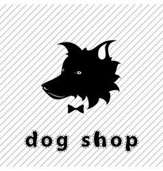 Dog shop signboard vector image vector image