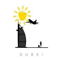 Dubai icon travel vector