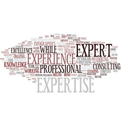 Expertise word cloud concept vector