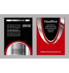 Flyer leaflet booklet layout design template vector