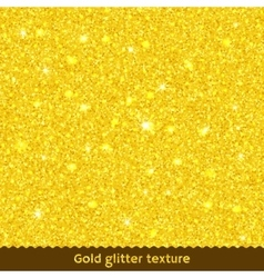 Gold glitter texture or background vector image vector image