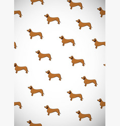 greeting card with cute cartoon dogs breed vector image vector image