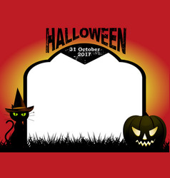 Halloween tombstone copy space background vector