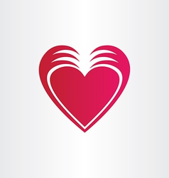Hands stealing heart concept st valentine symbol vector