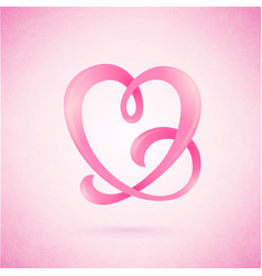heart shaped ribbon vector image