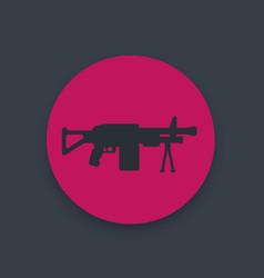 machine gun icon automatic firearm weapon vector image vector image
