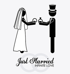 Married couple desing vector