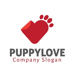 Puppy Love Design vector image vector image