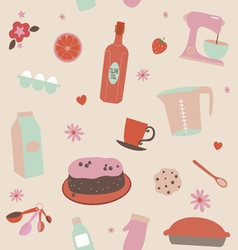 Ready for baking pattern vector