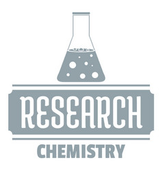Research chemical logo simple gray style vector