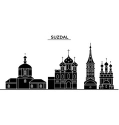 russia suzdal architecture urban skyline with vector image
