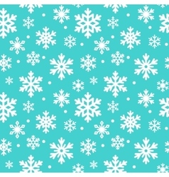 Seamless pattern of winter snowflakes vector image