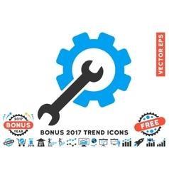 Setup tools flat icon with 2017 bonus trend vector