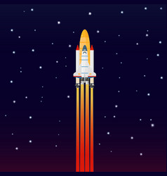 space galaxy rocket spaceship launch vector image vector image