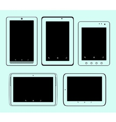 Tablet pc set vector image vector image