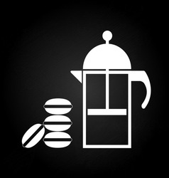 Tea time with macaron vector