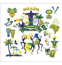 traditional Brazilian Carnival vector image