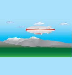 zeppelin in the sky vector image