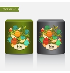 Design tea packaging vector
